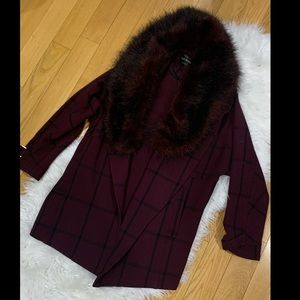 Fur faux coat oversized